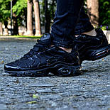"Мужские кроссовки Nike Air Max Tn+ plus ""Triple black"". Топ качество! Живое фото (Реплика ААА+), фото 6"