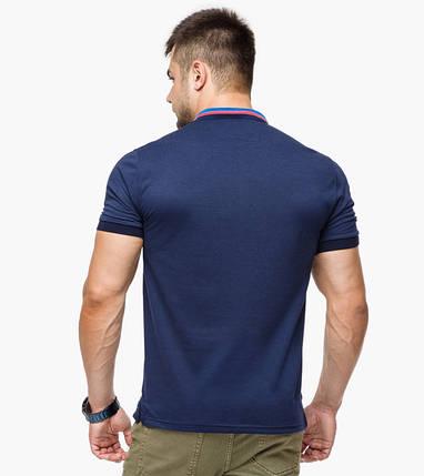Braggart   Рубашка поло мужская 6422 т.синий-голубой, фото 2