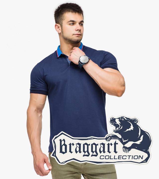 Braggart   Рубашка поло мужская 6422 т.синий-голубой