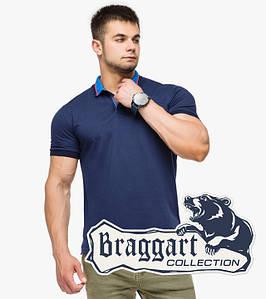 Braggart | Рубашка поло мужская 6422 т.синий-голубой 54