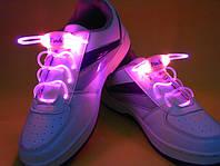Светящиеся шнурки  4-го поколения,розовые —самые Ярки!