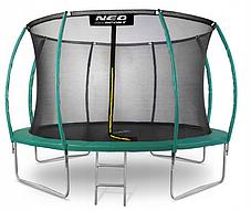 Батут NeoSport 374 см с внутренней сеткой и лесенкой, фото 2