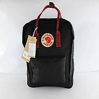Рюкзак Fjarvallen Kanken Classiс Black ox Red (реплика), фото 1