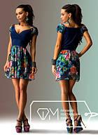 Платье летнее короткое в расцветках 3057к