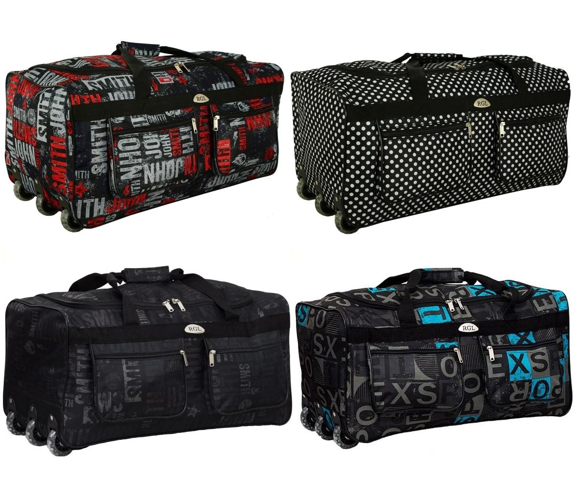 Дорожная сумка на колесах RGL A4 225 л материал Codura с выдвижной ручкой