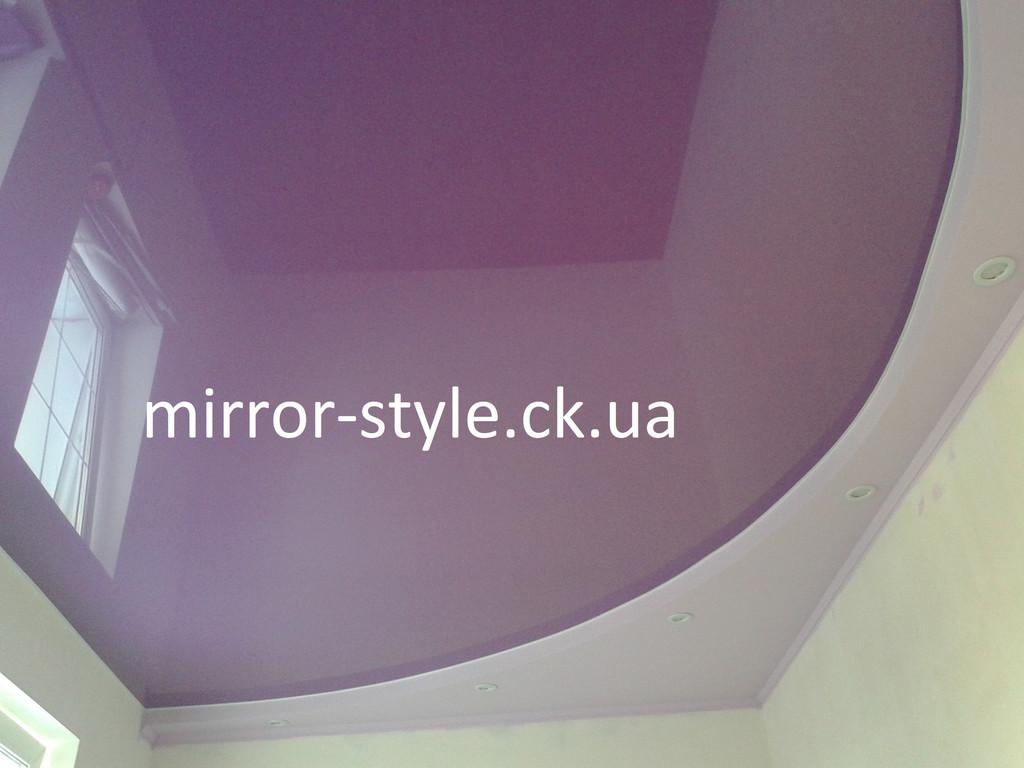 Глянцевый натяжной потолок в спальне  г. Черкассах по ул. Гоголя