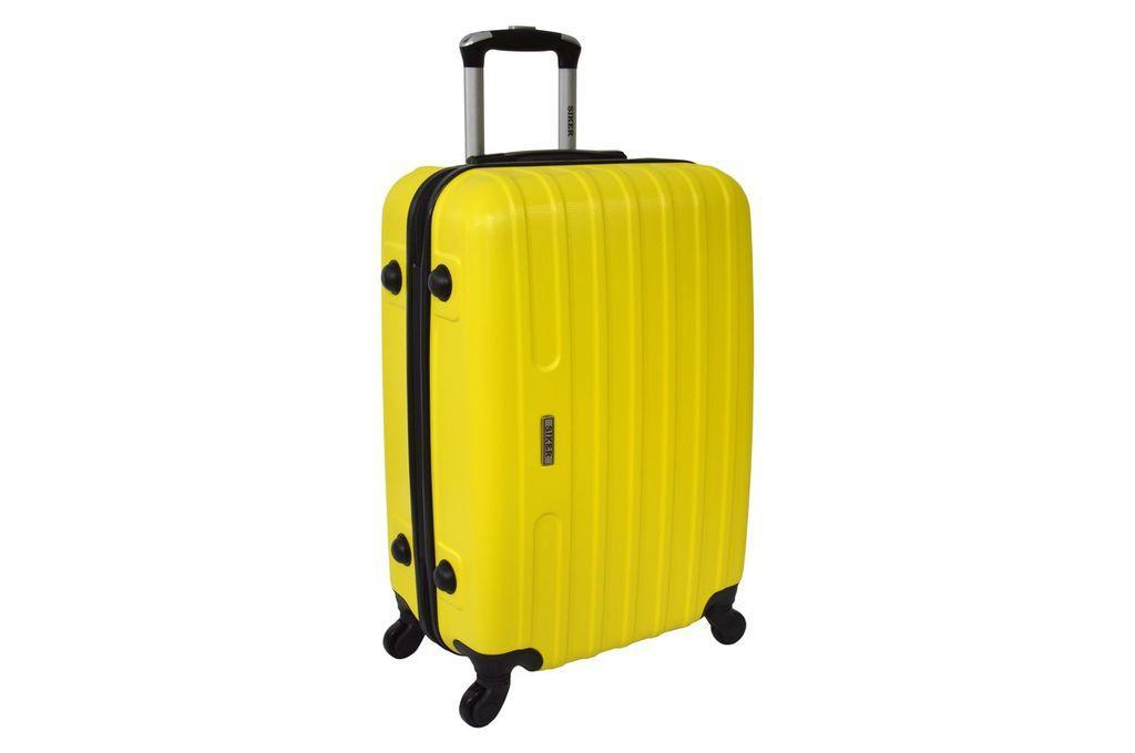 Дорожный чемодан на колесах Siker Line Желтый Средний