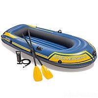 Двухместная надувная лодка Intex 68367 Challenger 2 Set с веслами и насосом, фото 1