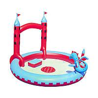 Надувной игровой центр бассейн Bestway 53037 «Замок Дракона» с игрушками и фонтаном, фото 1
