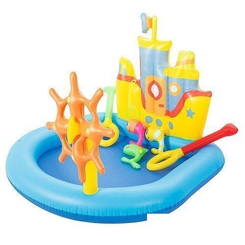 Надувной игровой центр бассейн Bestway 52211 «Кораблик» с надувными кольцами