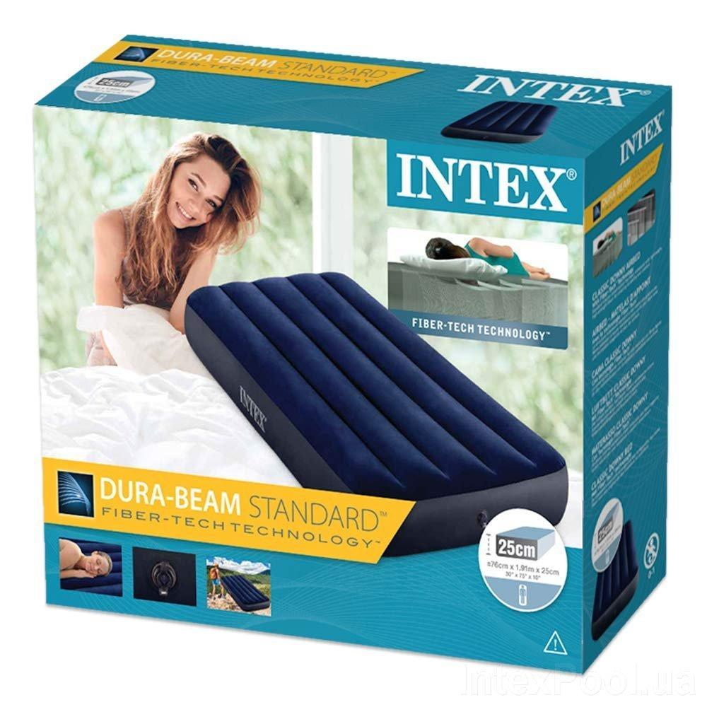Одноместный надувной матрас Intex 64756