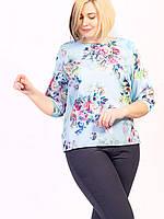 🌺 Нарядная женская блузка в цветы, фото 1