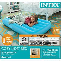 Детский надувной матрас Intex 66803 Одноместный Голубой