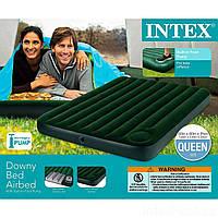 Надувной матрас Intex 66929 со встроенным ножным насосом Двухместный, фото 1