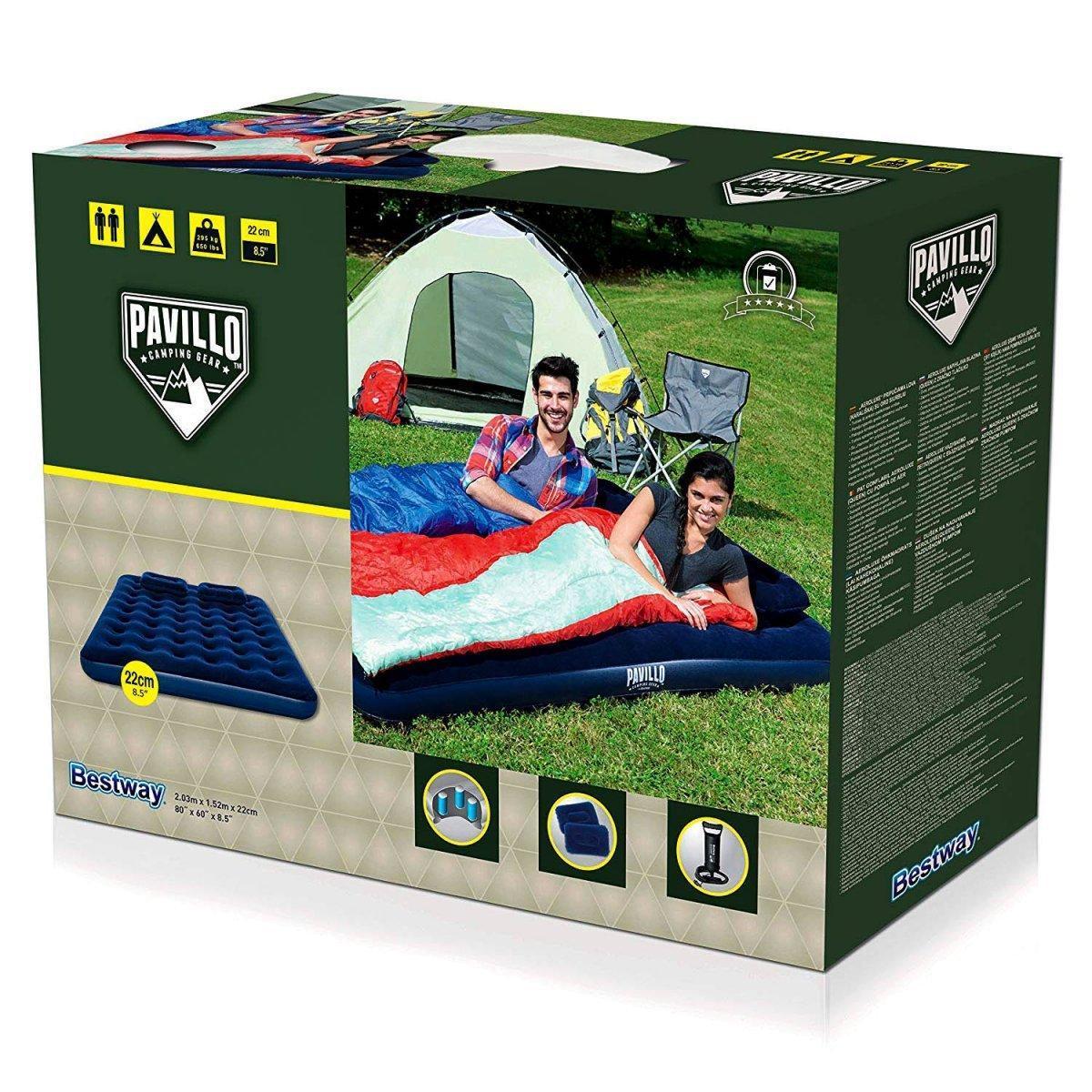 Двухместный надувной матрас Pavillo Bestway 67374 с насосом и подушками