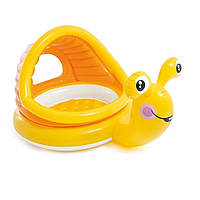 Детский надувной бассейн Intex 57124 Улитка с навесом, фото 1