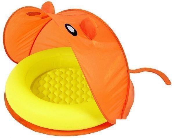 Детский надувной бассейн Bestway 51110 с навесом оранжевый