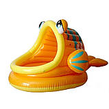 Детский надувной бассейн Intex 57109-1 «Ленивая рыбка» с навесом и шариками 10 шт, фото 2