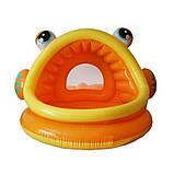 Детский надувной бассейн Intex 57109-1 «Ленивая рыбка» с навесом и шариками 10 шт, фото 3