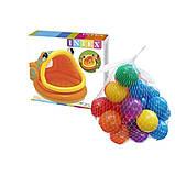 Детский надувной бассейн Intex 57109-1 «Ленивая рыбка» с навесом и шариками 10 шт, фото 5