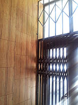 Раздвижные решетки совместно со стационарными решетками из квадрата 12*12мм, фото 3