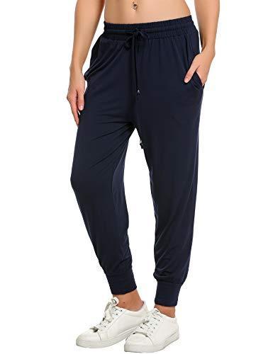 Штаны спортивные женские IN'Voland French Terry Yoga высокая посадка легкие синие M