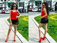 """Летний женский костюм """"Агнес"""" с шортами и топом (6 цветов)"""