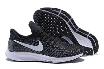 Кроссовки Nike Air Zoom Pegasus 35 Black/Gunsmoke/Oil Grey/White 942855-001 Sneakers Running Shoes мужские