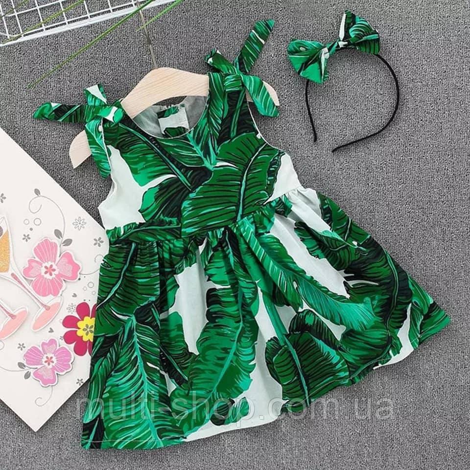 Платье для девочки с обручем для волос