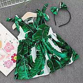 Сукня для дівчинки з обручем для волосся