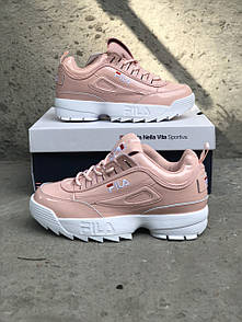 Жіночі Кросівки Fila Disraptor 2 Pink (шкіра лак) 39