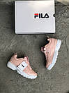 Жіночі Кросівки Fila Disraptor 2 Pink (лак кожа), фото 2