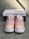 Жіночі Кросівки Fila Disraptor 2 Pink (лак кожа), фото 3