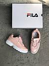 Жіночі Кросівки Fila Disraptor 2 Pink (лак кожа), фото 4