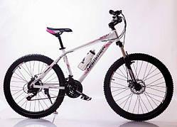 Велосипед взрослый HAMMER 26″ бело - розовый