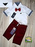 Белая рубашка Armani с коротким рукавом для мальчика 3-5 лет, фото 4