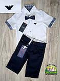 Белая рубашка Armani с коротким рукавом для мальчика 3-5 лет, фото 6