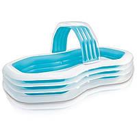 Детский надувной бассейн Intex 57198 «Оазис» с навесом и фонтаном, фото 1