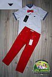 Белая рубашка Armani с коротким рукавом для мальчика 3-5 лет, фото 8