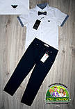 Белая рубашка Armani с коротким рукавом для мальчика 3-5 лет, фото 9