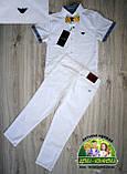 Белая рубашка Armani с коротким рукавом для мальчика 3-5 лет, фото 10
