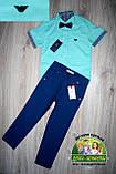Мятная рубашка Armani с коротким рукавом для мальчика, фото 2