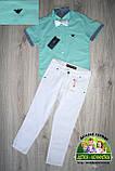 Мятная рубашка Armani с коротким рукавом для мальчика, фото 3