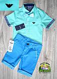 Мятная рубашка Armani с коротким рукавом для мальчика, фото 6