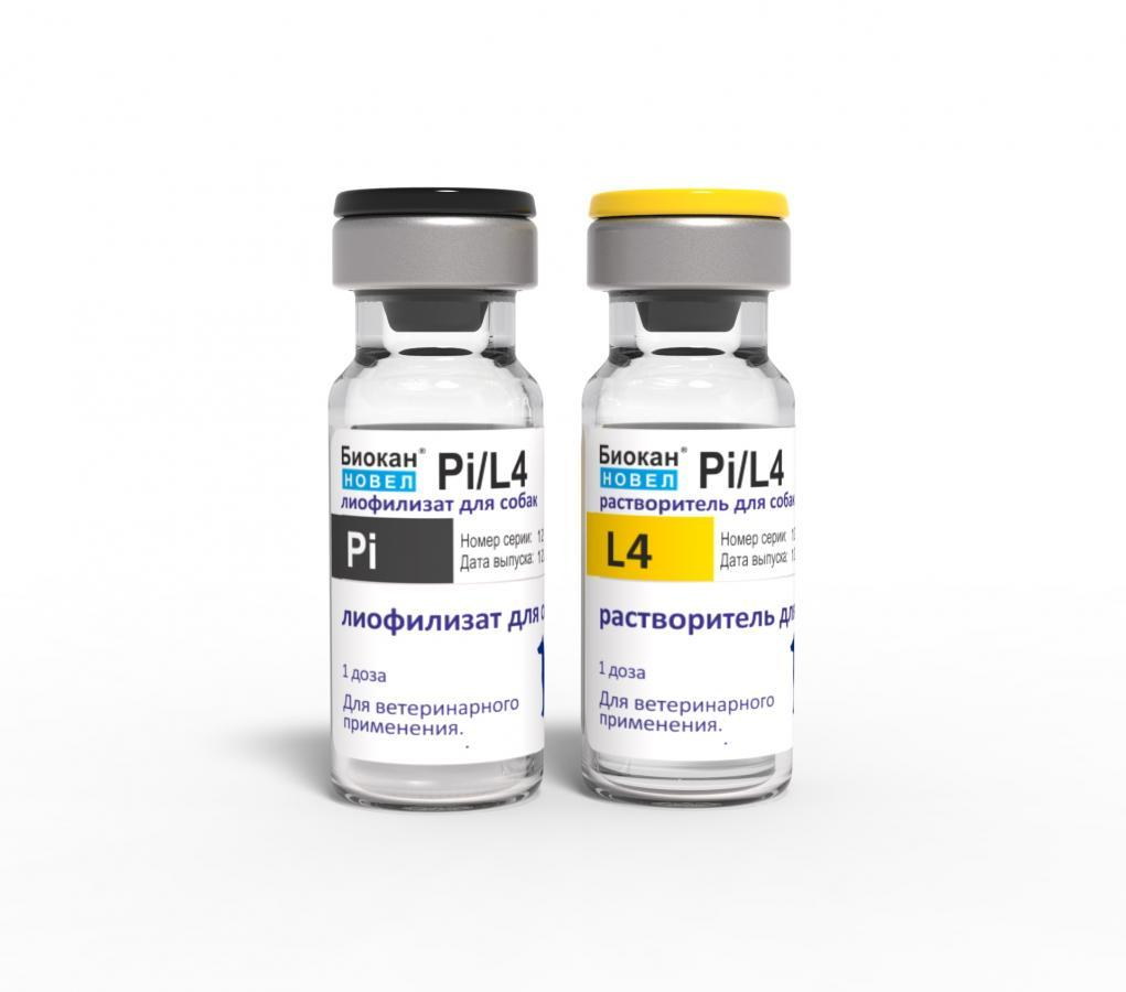 БИОКАН НОВЕЛ PI/L4 BIOCAN NOVEL PI/L4 вакцина для собак против лептоспироза и парагриппа, 1 доза