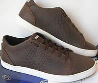 """Чоловічі кросівки Adidas """"Stan Smith"""", натуральна шкіра, репліка Стен Сміт коричневі натуральна шкіра"""