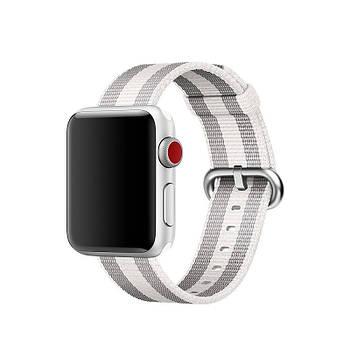 Ремешок для часов Apple Watch 38 мм 40 мм нейлоновый с пряжкой, Gray with white