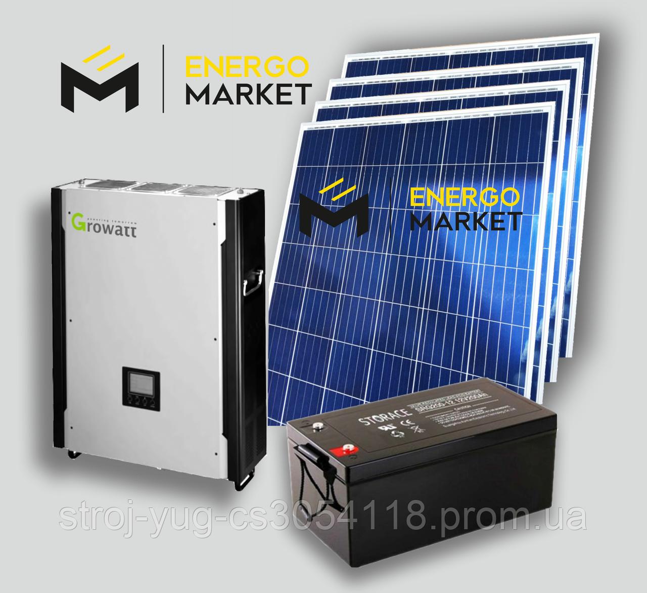 Солнечная гибридная электростанция 10 кВт