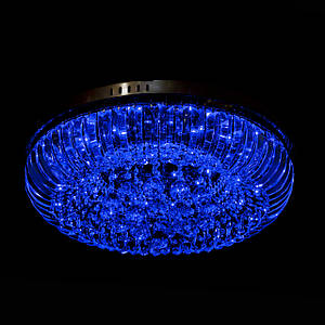 Хрустальная люстра с LED подсветкой на пульте управления на 8 лампочек (золото) P5-E1691/8/FG