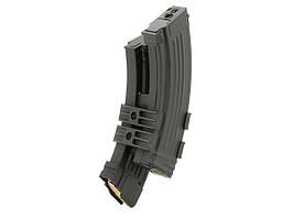 Електричний бункерний магазин Hi-Cap на 1100 куль для АК з муляжами патронів [CYMA] (для страйкболу)